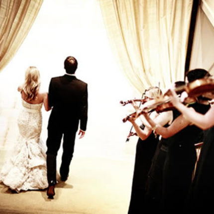 Our violinists serenade the newlyweds