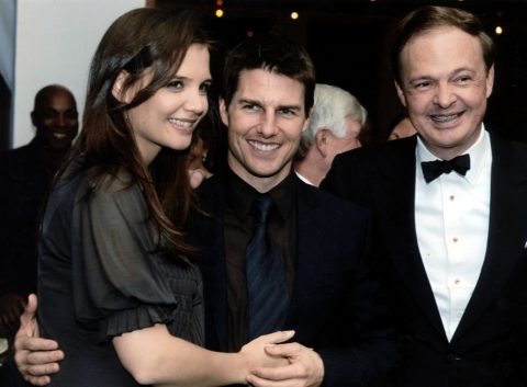 With Tom Cruise and Katie Holmes