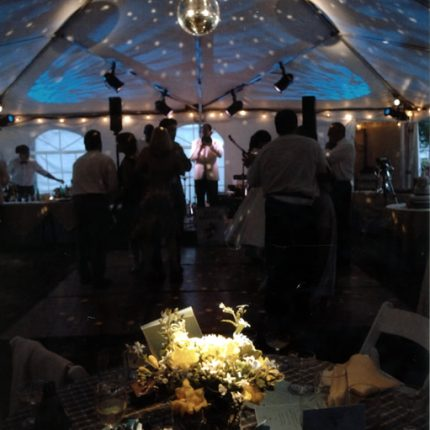 Disco ball over the dance floor