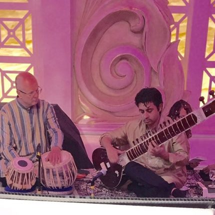 Indian music at wedding reception