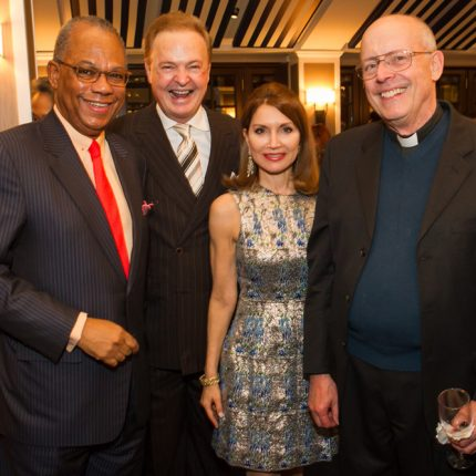 With Rev. Calvin Butts, Jean Shafiroff, and Rev. Boniface Murray