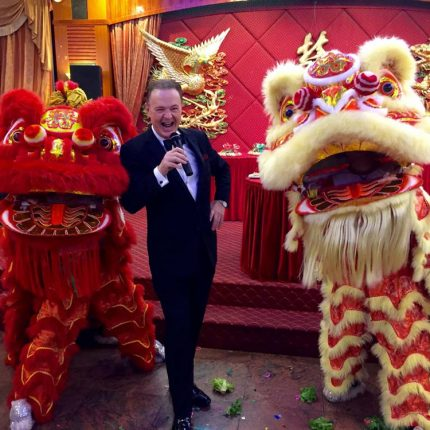 Alex with the Chinese Dragons