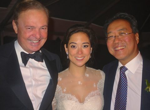 With Yo-Yo Ma and his daughter Emily Ma at her wedding, 2014