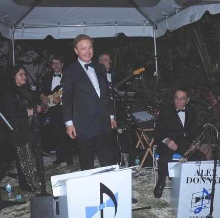 Alex Donner Orchestra performing at a party in Palm Beach, Christmas 2017