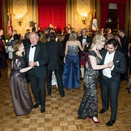 Dancing to the Alex Donner Orchestra at the 2017 Military Ball