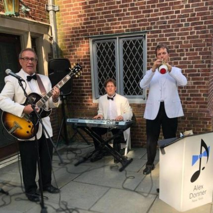 One of our jazz trios at a Hamptons cocktail party