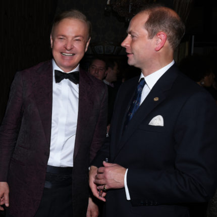 With HRH Prince Edward, Earl of Wessex  Chicago, 2018