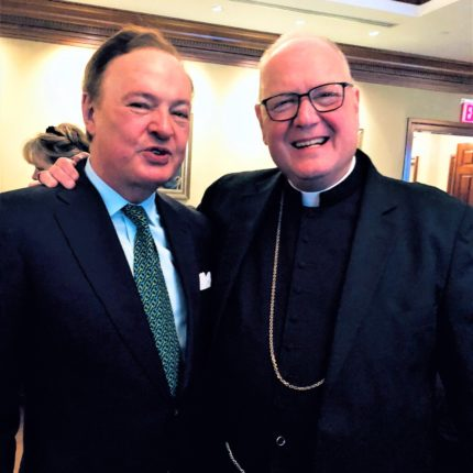 Alex Donner with Cardinal Timothy Dolan after a performance, 2018